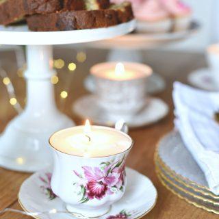 Tea cup candle tutorial