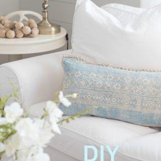 DIY Throw rug into pillows