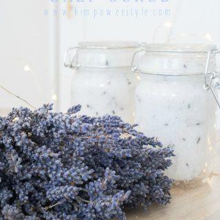 Simple Coconut Lavender Salt Scrub